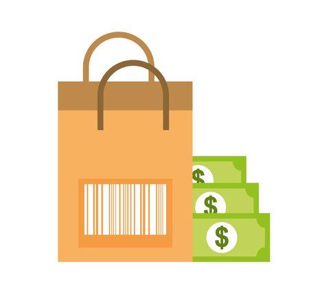 108850827-paper-bag-barcode-banknote-money-online-shopping-vector-illustration
